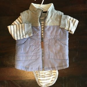 Carters size 12 month onesie with vest